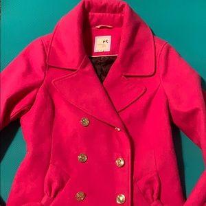 Euc tommy girl pink coat
